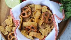 This simple slow-cooker snack mix packs big flavor with the additions of ranch and Old El Paso™ taco seasoning mix.