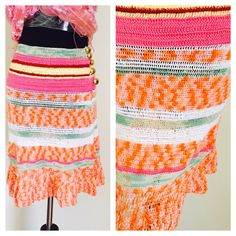 A personal favorite from my Etsy shop https://www.etsy.com/listing/482230049/knit-skirt-multicolor-size-s-woman