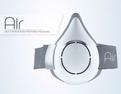 Air is a half mask respirator concept designed to remove the industrial image of personal respirators and provide protection against increasing air pollution.