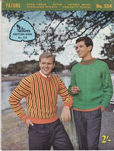 Patons Knits for Men Vintage Knitting  Book  No by jennylouvintage