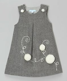 Look what I found on #zulily! Gray Flower Wool-Blend Jumper - Infant & Toddler #zulilyfinds
