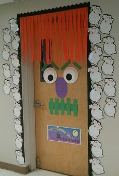 halloween door decoration - Saw this idea on Pinterest , but changed it a little bit.