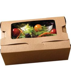 Bio-Plus # 3 VIEW EARTH 100% Recycled Kraft Windowed Take Out Food Container | MrTakeOutBags