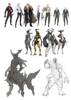 Pin by jim ip on character design in Game Concept Art, Character Concept, Character Art, Creature Concept Art, Creature Design, Reference Manga, Girl Pose, Sketch Manga, Monster Design