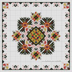 This Pin was discovered by ZÜB Folk Embroidery, Cross Stitch Embroidery, Embroidery Patterns, Cross Stitch Charts, Cross Stitch Designs, Cross Stitch Patterns, Mandala, Vintage Cross Stitches, Needlepoint Pillows