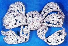 From Her Majesty's Jewel Vault: The Dorset Bow Brooch. The Dorset Bow Brooch was a present to Queen Mary for her wedding to the future George V in 1893 from the County of Dorset (unsurprisingly). It's composed of diamonds set in gold and silver and was made by Carrington & Co.