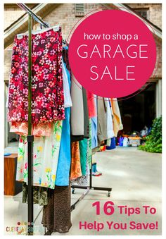 Are you planning to hit the garage sales?  Here's 16 tips you need to help you save!