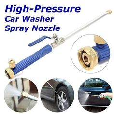 """Hurry, before its gone! Summer Sale Ends Today! (June 7th) 50% Off + Free Shipping(USA + Canada) ~  The High Pressure Power Washer™ connects to any standard garden hose. Simply screw the water nozzleonto the garden hose and it is ready to use. Great for cleaning decks, driveways, patios, cars, and other outdoor stains. Features  Made of aluminum, plastic, and brass. High Pressure Power Washer connects to any standard ¾"""" garden hose, or may be used with a powered pressure washer system"""