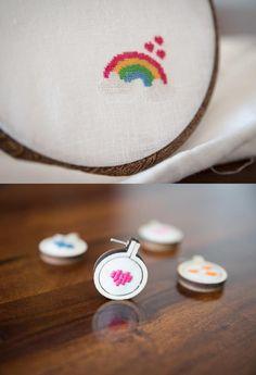 Lass mit diesem Kreuzstich-Motiv einen Regenbogen strahlen, wann immer du es möchtest - Stickvorlage via Makerist.de