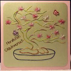 Fadengrafik+Karte+Geburtstag+Blumen+29+Bonsai+von+Rene´s+Fadengrafiken+auf+DaWanda.com
