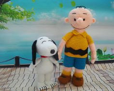 Amigurumi Snoopy and Charlie Brown