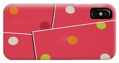 Pretty pink polka dot phone case for iPhone or Android. Exclusive design available only at Fine Art America