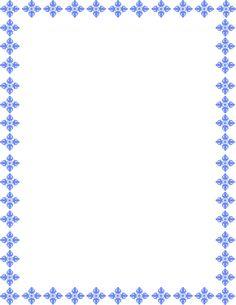floral art border blue Frame Border Design, Page Borders Design, Witchy Wallpaper, Page Frames, Boarders And Frames, Scrapbook Frames, Kids Background, Stationery Paper, Disney Tattoos
