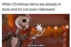 When Christmas Items Are Already In Store And It's Not Even Halloween halloween halloween pictures halloween images halloween photos halloween memes images of halloween Halloween Tags, Halloween Decorations, Halloween Christmas, Halloween 2019, Spooky Decor, Halloween Pictures, Happy Halloween, Christmas Decorations, Holiday Decor