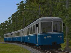 Triebwagenzug der Rigi-Bahn