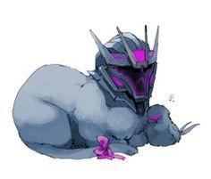 Kittyformers Soundwave. << I WANT HIM AS A PET A PET