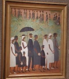"""Art from """"The Cosby Show."""" The Funeral Procession by Ellis Wilson, always liked it."""
