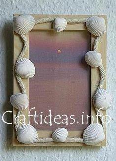 porta retrato conchas pinterest - Pesquisa Google