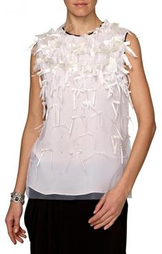 Prabal Gurung Bow Embellished Blouse With Contrast Piping