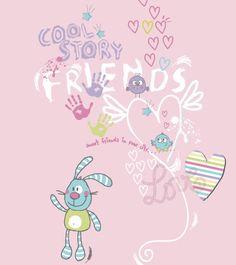 Sweet friends   Kidsfashionvector   cute vector art for kids clothes