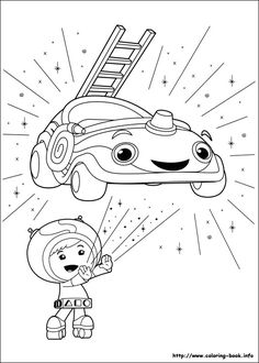 Umizoomi coloring picture  Colouring Activity Sheets  Pinterest