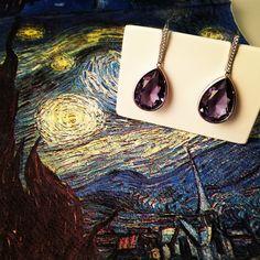#VanGogh Fashion Accessories, Fashion Jewelry, Women Jewelry, Rainbows, Unique Fashion, Cat Eye Sunglasses, Swarovski Crystals, Brooch, Jewels