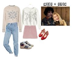 """""""Me on Stranger Things .8"""" by nancy-wheeler-24 ❤ liked on Polyvore featuring Fat Face, Urban Outfitters, Susan Caplan Vintage and adidas"""