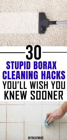 30 Genius Borax Cleaning Hacks for a Clean Home - - Borax can be used widely across your home with these cleaning hacks to clean a lot of things around your house and also get rid of pests easily. Diy Home Cleaning, Mattress Cleaning, Bathroom Cleaning Hacks, Household Cleaning Tips, Homemade Cleaning Products, Deep Cleaning Tips, Cleaning Recipes, House Cleaning Tips, Natural Cleaning Products