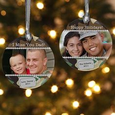 """""""military photo hanging ornaments"""" Great to put in a care package, OR hang on your own tree - MilitaryAvenue.com"""