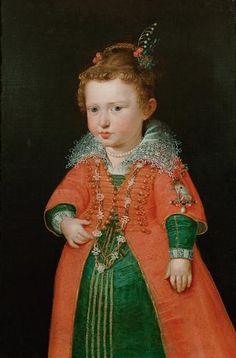 Rubens ca 1600/01. Eleonore von Gonzaga (1598-1655), Kaiserin, im Alter von zwei Jahren, Kniestück | Peter Paul Rubens | um 1600/1601 | Inv. No.: GG_3339 (Couldn't resist this!)