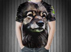 T-Shirt - Keeshond dog pet animal portrait