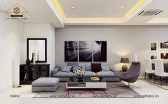 Hiện đại và đầy sức hút trong lối thiết kế chung cư 3 phòng ngủ đầy đủ tiện nghi - Thiết kế nội thất chung cư căn hộ 100m2