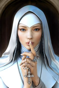 [image] Title: Beauty Nun Name: yujin Kim Country: Korea (South) Software: Maya Title: Beauty Nun Name: yujin Kim Country: Korea Software: Maya, Photoshop, ZBrush, Mental ray Hi! all This is my first posting in… Zbrush, Religion, Moda Blog, Female Characters, Character Inspiration, Fantasy Art, Fantasy Women, Final Fantasy, Art Photography