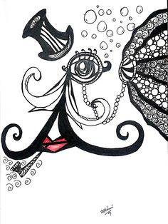 whimsical doodles quirky doodle zentangle calligraphy