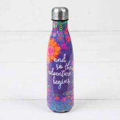 """""""Adventure Begins"""" Double Wall Water Bottle"""