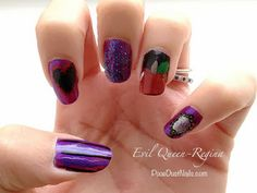 Pixie Dust Nails:  Once Upon A Time Nail Art inspired by the Evil Queen/Regina