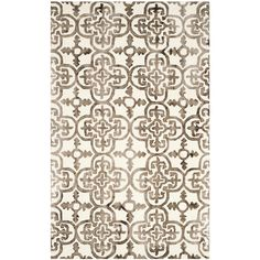 Dip Dye Ivory/Brown 5 ft. x 8 ft. Area Rug