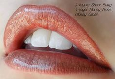 "LipSense Color Combination: ""Honey Berry"" 2 layers Sheer Berry, 1 layer Honey Rose with Glossy Gloss Order online at http://www.GetLippywithStephanie.com Distrubutor #206089 Serving all of Florida (Miami, Tampa, Naples, Orlando, Jacksonville, Pensacola) a"