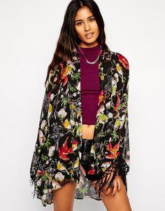 ASOS | ASOS Kimono in Bird and Floral Print at ASOS