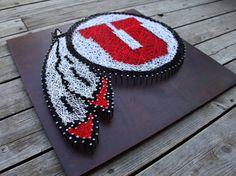 Utah Utes Logo String & Nail Art