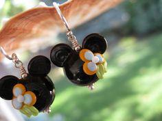 Luau Mango Mouse Lampwork Glass Beads