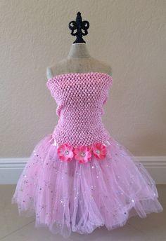 Pink Tutu Set Tinkerbell Tutu Dress Princess Tutu by partiesandfun, $20.00