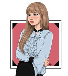 ️💛My bae Lisa💛☁️ I love her so fm😭💛 it's not Ariana ikkk but expect a lot of BlackPink drawings! Btw hope you like it and Give me your Cute Girl Drawing, Cartoon Girl Drawing, Girl Cartoon, Girly Drawings, Kpop Drawings, Artwork Drawings, Black Pink Kpop, Digital Art Girl, Cartoon Art Styles
