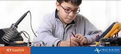 Basado en las Tecnologías de la Información y las Comunicaciones (ICT, por sus siglas en inglés), en ICT ConFUS los estudiantes pueden diseñar sus propias invenciones y utilizar programas de software tales como Scratch, S4A, SPL, y Arduino, para desarrollar su propio trabajo creativo. Conoce ICT ConFUS y el resto de nuestros programas en http://mindbuilders.com.mx