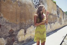 For Love and Lemons - yellow lace dress