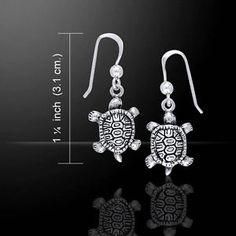 Diamondback-Turtle-925-Sterling-Silver-Earrings-by-Peter-Stone