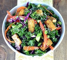Meatless Monday: Asian Kale & Tofu Salad Recipe - Clean Eating
