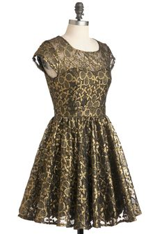 Golden Garden Dress | Mod Retro Vintage Dresses |