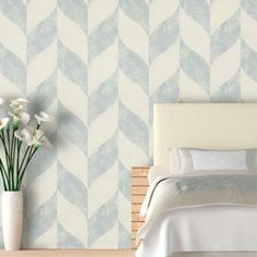 Distressed Chevron Wallpaper.