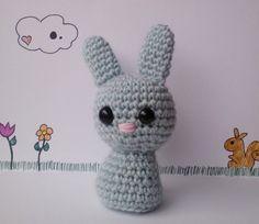 Crochet Amigurumi Blue Bunny Rabbit by DoodlesandCupcakes on Etsy